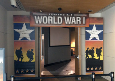 NC Museum History Banners WWI Exhibit