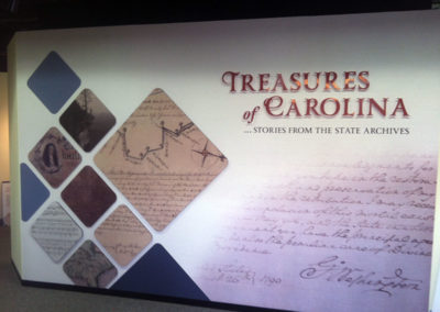 NC Museum History Wallpaper and dimensional signage